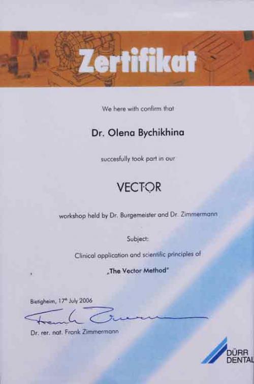Курс обучения Vector терапия
