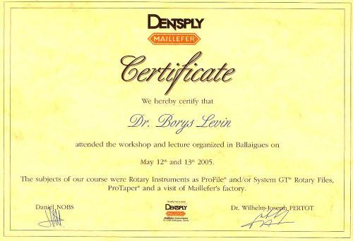 Сертификат обучения работы инструментами НиТи